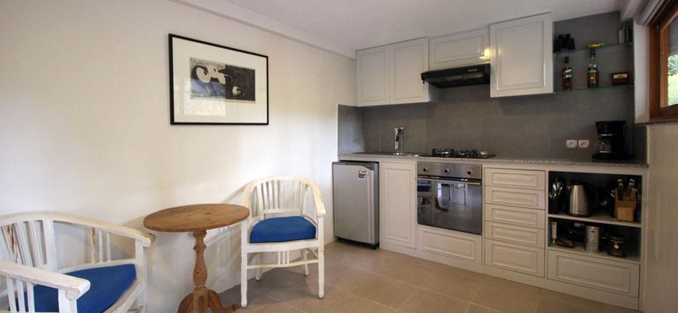 bali lovina villa lemirage villa santai for rent kitchen
