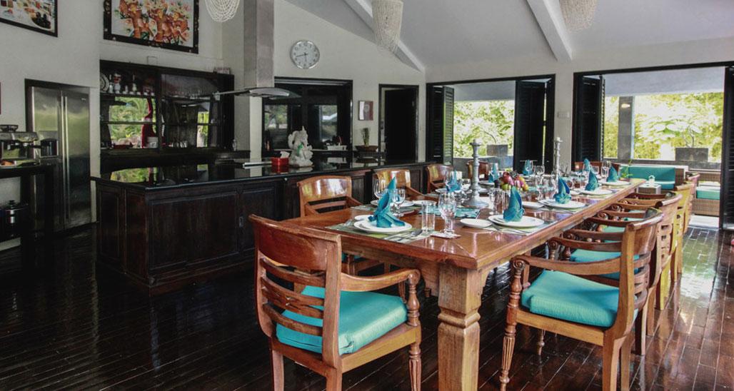 bali lovina villa lemirage villa santai for rent dining